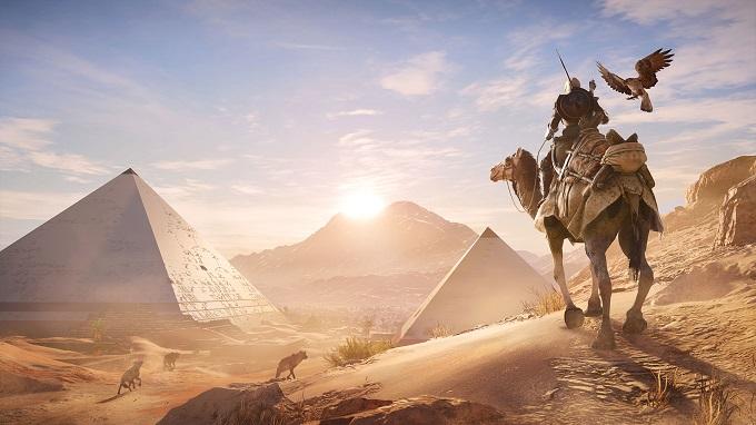 Il deserto dell'antico Egitto in Assassin's Creed.