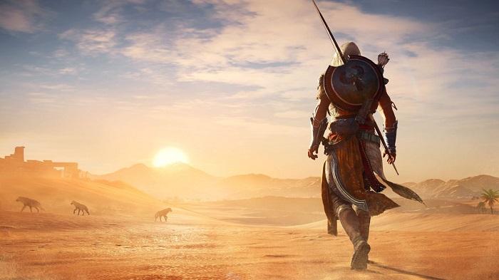Prendi i panni di Bayek per vivere un'entusiasmante avventura nell'Antico Egitto.