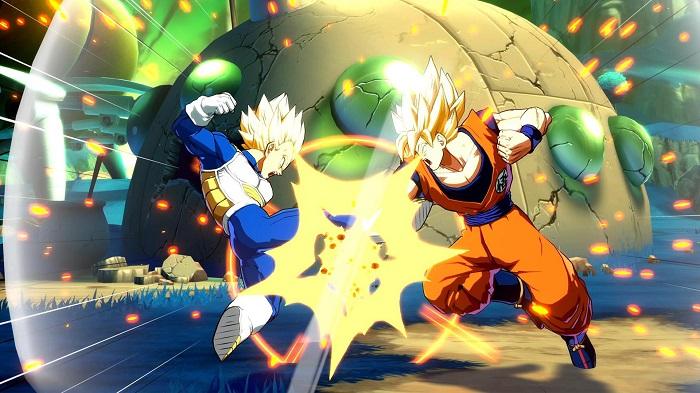 Goku e Vegeta in combattimento