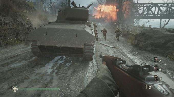 La campagna di Call of Duty WW2 presenta delle aggiunte a livello di gameplay.