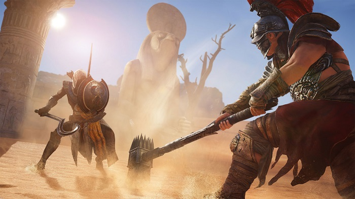 Il sistema di combattimento di Assassin's Creed Origins.