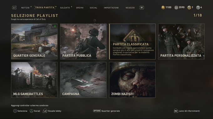 Le partite classificate arrivano su COD WW2!
