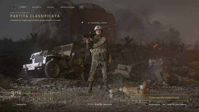 Ecco i match classificati di COD WW2!
