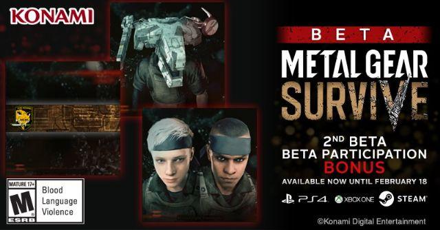 Metal Gear Survive avrà una seconda beta!