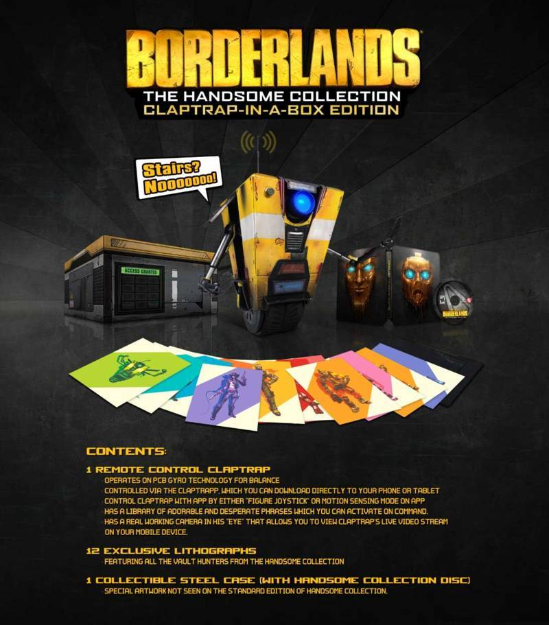 Borderlands The Handsome Collection Claptrap-in-a-box Edition - News