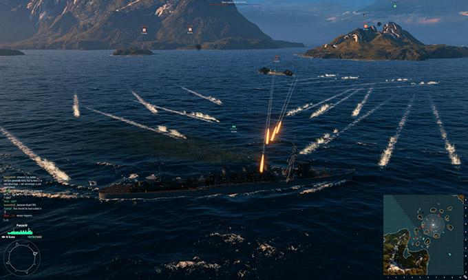 World of Warships - Combattimento
